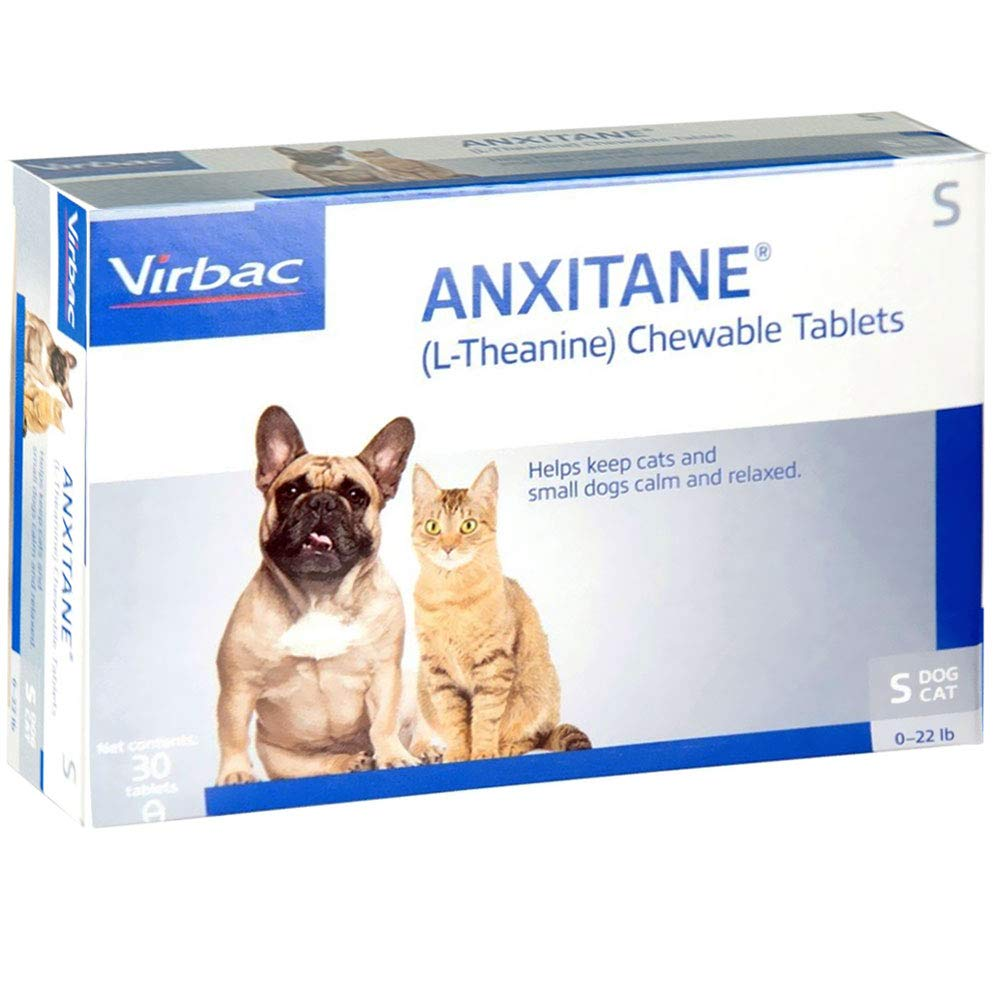 Virbac Anxitane Tablets, Small Dog/Cat, 50mg, 30 Count by Virbac