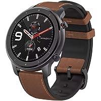 Amazfit - Smartwatch Amazfit Gtr 47Mm Aleación De Aluminio Y Correa De Cuero Marrón