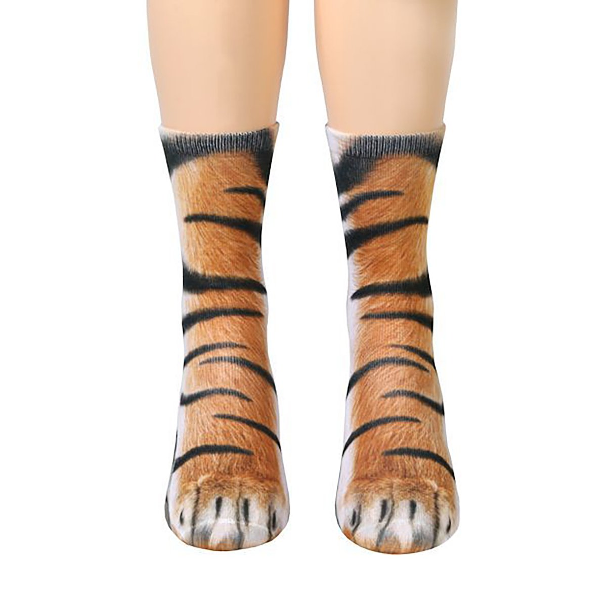 YF Unisex Adult Animal Foot Print Simulation Tube Stockings 3D Paw Pattern Crew Socks Yin Feng 0AF0SA1S3M
