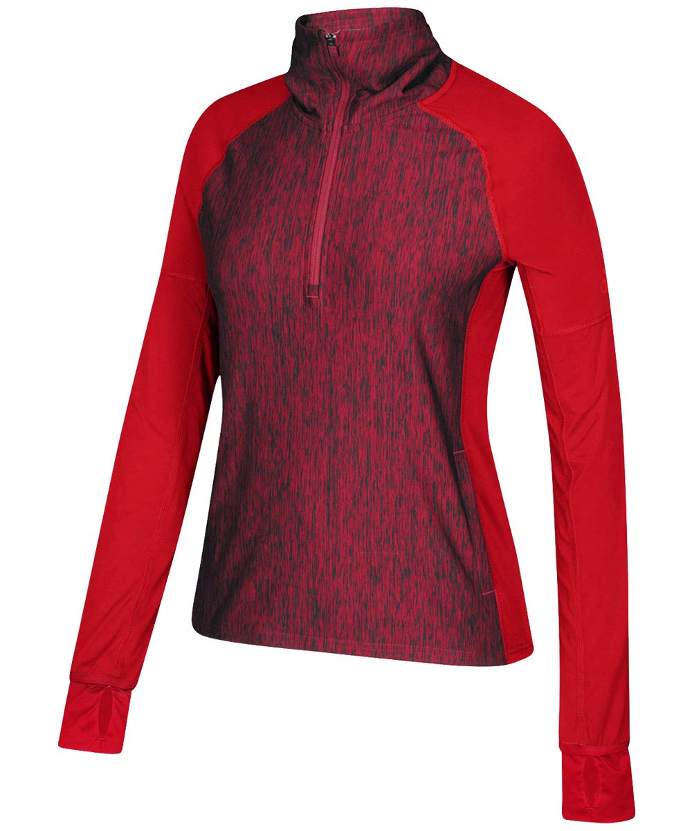 adidas Performer Baseline 1/4 Zip - Power Red - Small