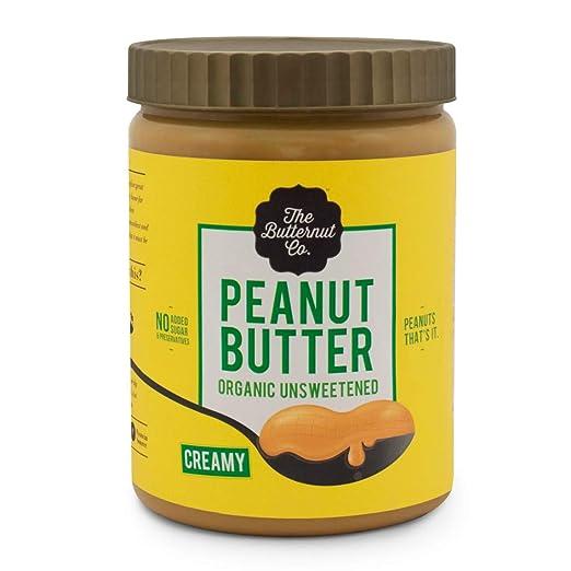 The Butternut Co. Peanut Butter Organic Unsweetened Creamy Jar,  1 kg