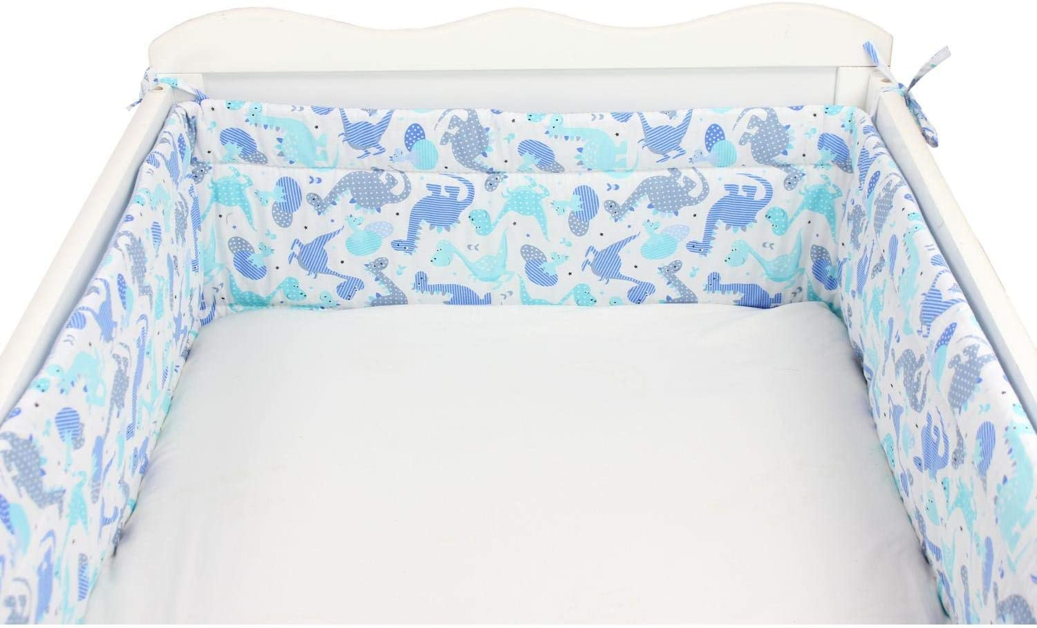 Cot 120x60 cm 360x30 cm Stars Blue//Dark Blue TupTam Baby Cot Bumper All Around Padded Bed Protection