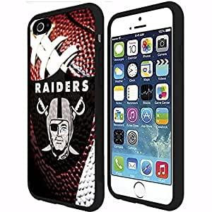 Oakland Raiders Football Sports RUBBER Snap on Phone Case (iPhone 6 Plus)