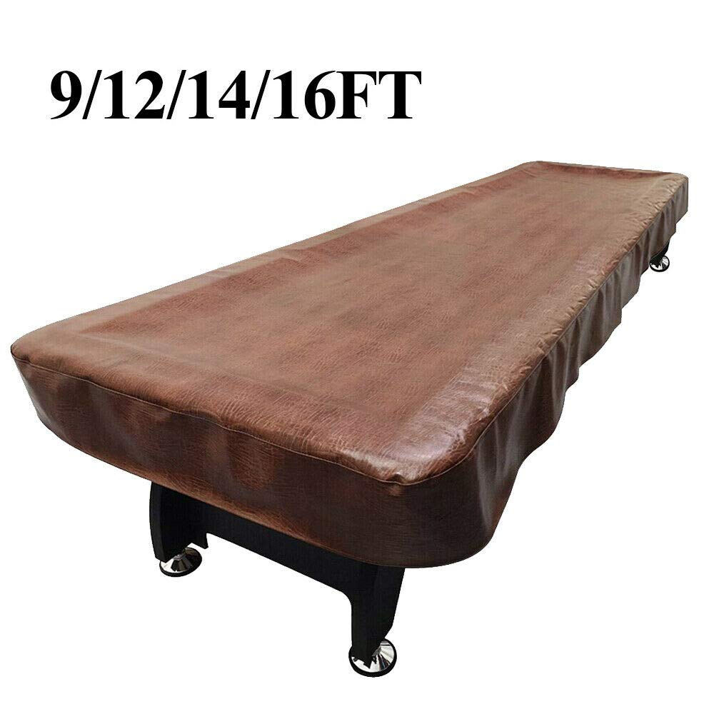 Lucky Monet 9/12/14/16ft Waterproof Shuffleboard Table Cover Heavy Duty PU Leather by Lucky Monet