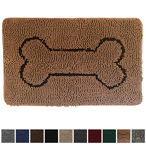 (Gorilla Grip Original Indoor Durable Chenille Doormat, 30x20, Absorbent, Machine Washable Inside Mats, Low-Profile Rug Doormats for Entry, Mud Room, Back Door, High Traffic Areas, Bone Camel)