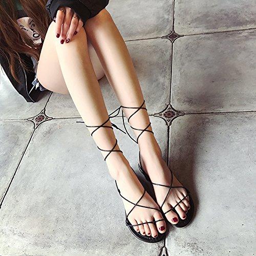 ITTXTTI Fondo Sandalias Verano Sandalias Retro 39 de Plataforma Zapatos Claro Mujer Mujer Nueva Estudiante beige Marrón Color Zapatos Grueso rrq1zHw