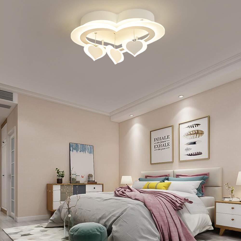 Lampadario a Sospensione a Forma di Cuore Romantico Creativo dimmerabile LZMXTHD Lampada da soffitto a LED a Incasso per Soggiorno//Camera da Letto//Bagno//Cucina//Illuminazione corridoio