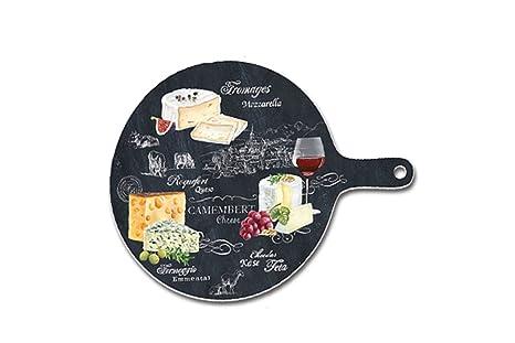 Piatti Cucina In Ardesia : Opus piatto per formaggio in ardesia rotondo con manico world of