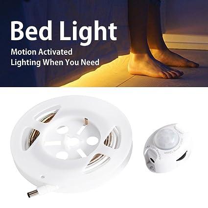 zuoao 1.2 m Movimiento activado cama Luz, Blanco cálido 30LED Tira Flexible Luz Auto Encendido