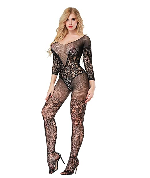 2f035a57ce Image Unavailable. Image not available for. Colour  OnMeFocus Hot  Bodystocking Honeymoon Dress Lingerie for Women- YD8507