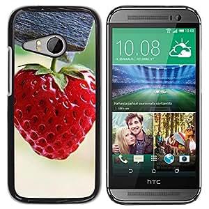 Paccase / SLIM PC / Aliminium Casa Carcasa Funda Case Cover - Strawberry - HTC ONE MINI 2 / M8 MINI