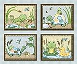 Pond Friends Wiggle Bugs Nursery Art Prints (8×10″, Set of Four), Baby & Kids Zone