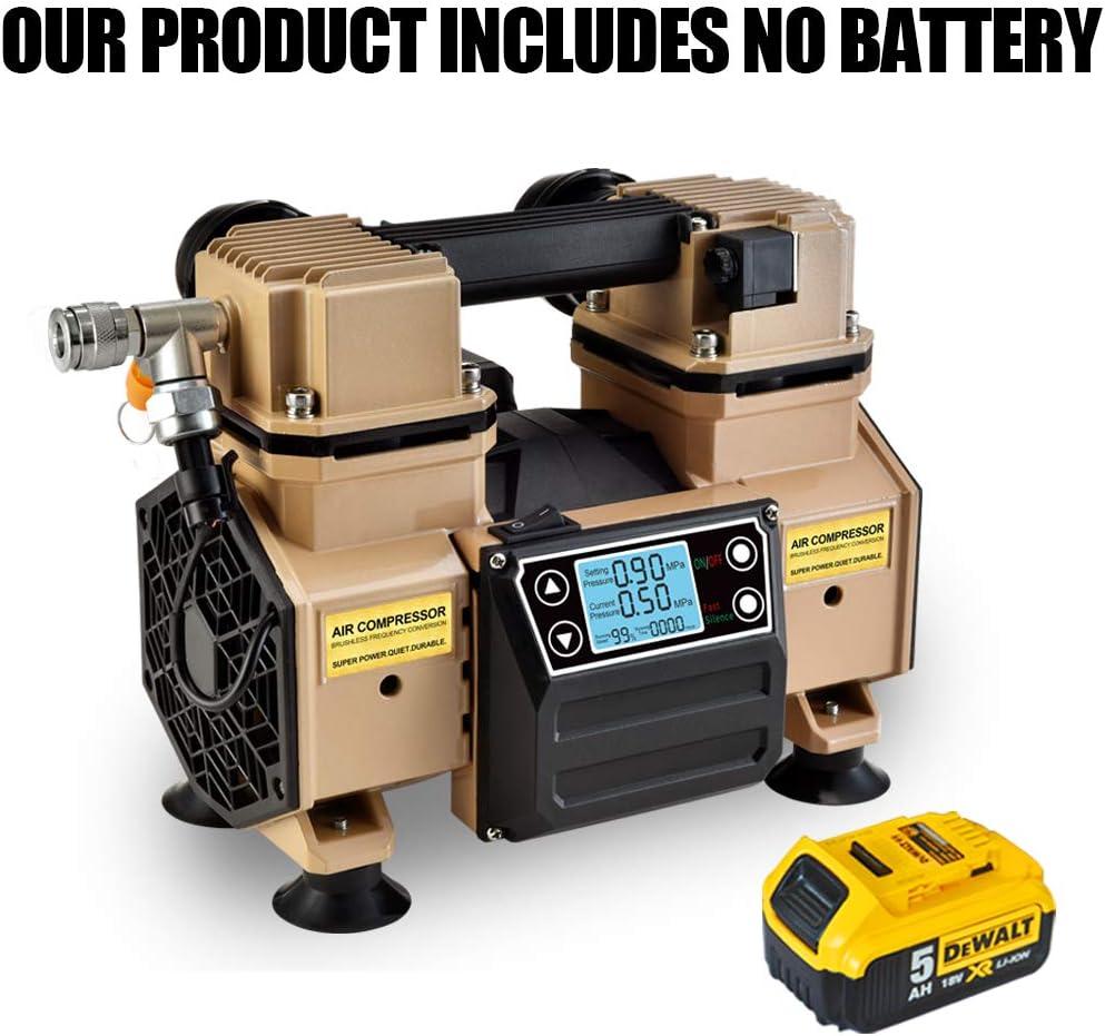 Tichop Portable Luft Compressor, Dc Power Luft Compressor Compatible mit Dewalt Li-Ion Battery,öl Free,Quiet,Auto Tire Inflation Pump,Auto Painting Pump