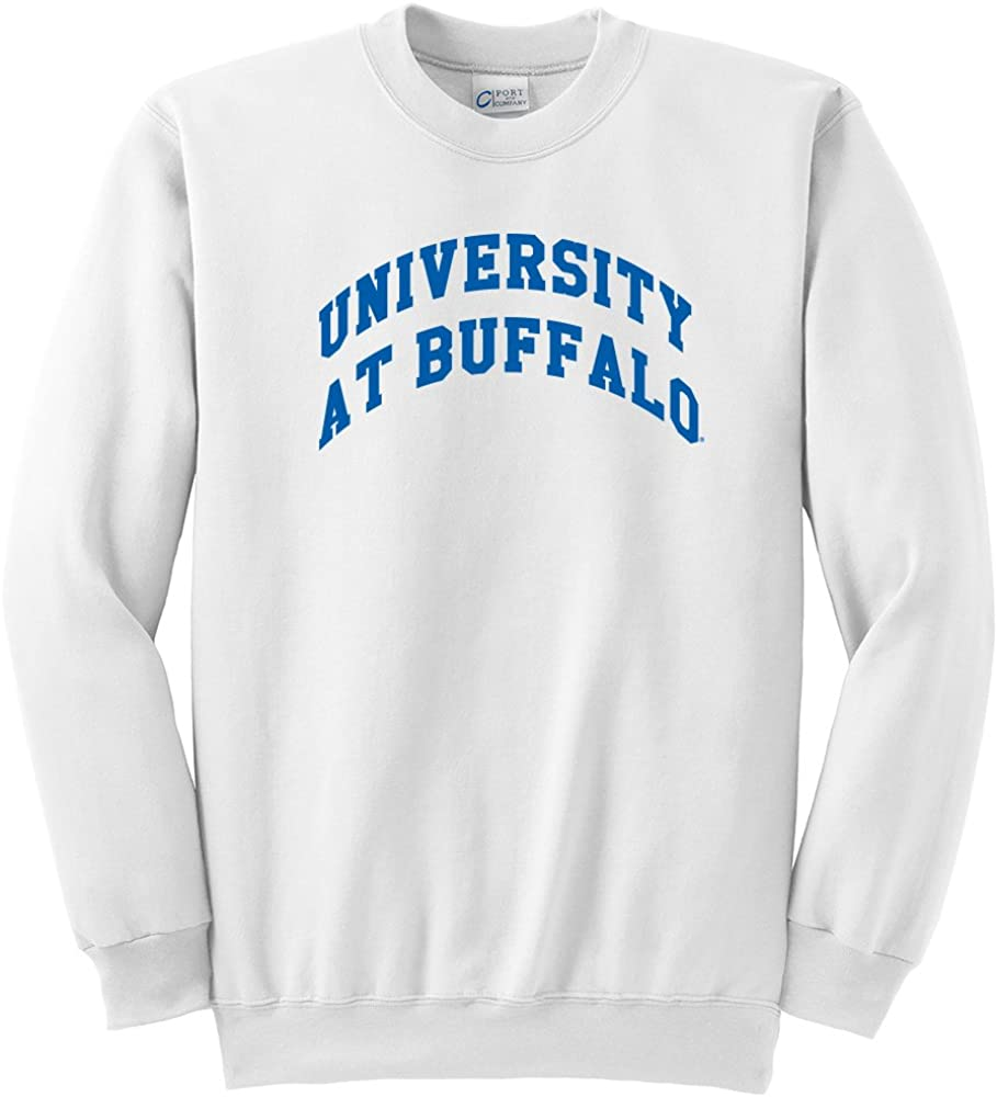 Large NCAA Buffalo Bulls  Youth Crewneck Sweatshirt White