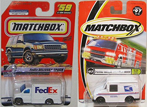 Usp Match (Set of 2 Matchbox USPS & FEDEX DELIVERY TRUCK 1:64 Scale Collectible Die Cast Metal Toy Car Models)