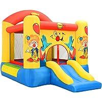 vidaXL Happy Hop Château Gonflable avec Toboggan 330x230x230 cm Aire de Jeux pour Enfant Jeu de Plein Air Jardin Cour Extérieur Parc de Jeux PVC
