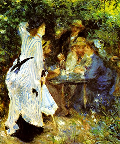 UNDER THE ARBOUR AT THE MOULIN DE LA GALETTE PARIS LUNCH 1876 FRENCH IMPRESSIONIST PAINTING BY AUGUSTE RENOIR ON CANVAS REPRO