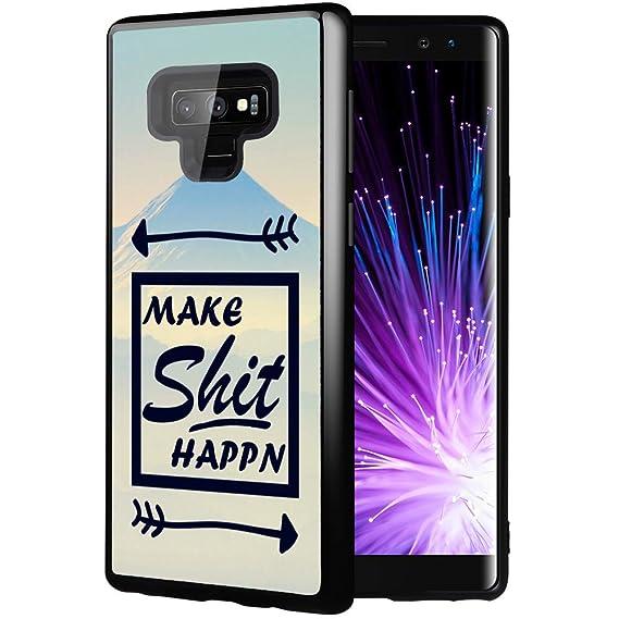 Peak Cases for Note 9,Casililor [TPU] [Anti-Slip] Premium Slim Protective  Marble Case Cover for Samsung Galaxy Note 9 - Make Shit Happen