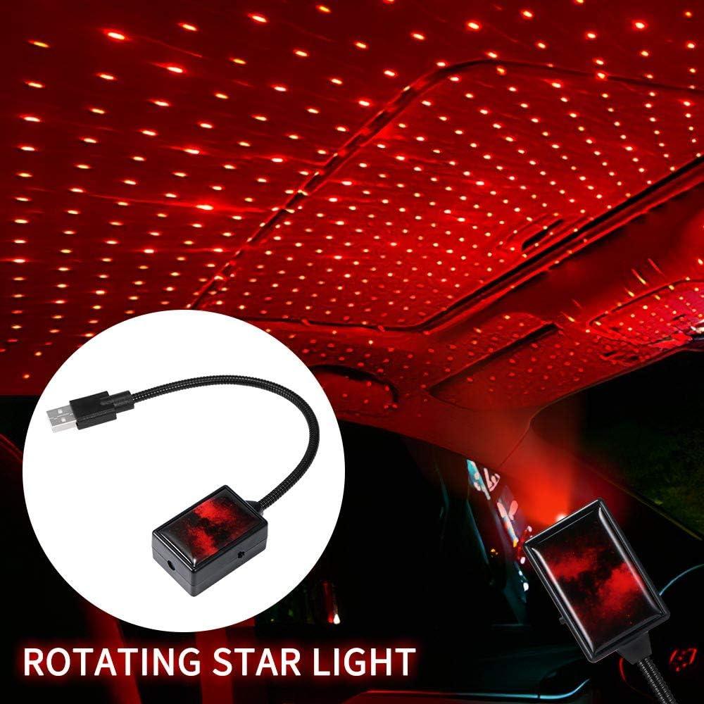 soffitto TopHGC Luce per proiettore USB per auto luce per tetto regolabile per auto Decorazioni romantiche per proiezione per auto festa luci interne a LED per auto camera da letto