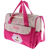 lahomia Large Capacity Baby Diaper Bag Mommy Maternity Bags - Pink, as described