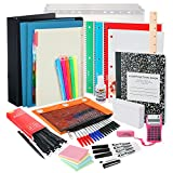 Back to School Supplies Kit for College Students: The Complete Classroom Supply Bundle - Set of 20 College School Essentials - Wide Ruled Paper, Pens, Pencils, Notebooks & More Stuff