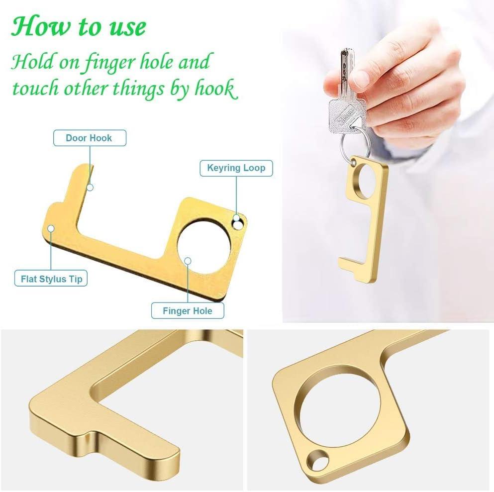 3 Pack Brass Key Door Opener for Door Elevator Button Pusher of ...