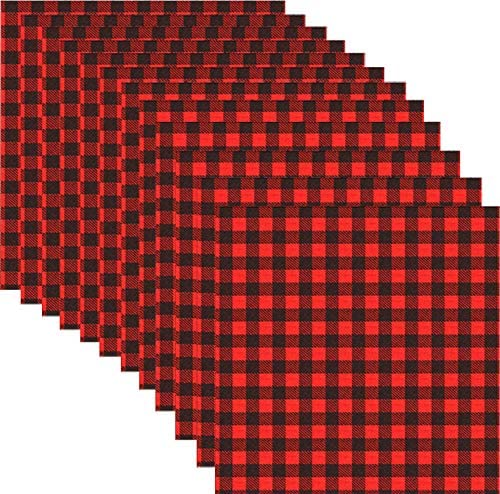 12 x 12 Inch Heat Transfer Vinyl Red /& Black Plaid Fabric Printed Vinyl Sheets Adhesive Iron on Vinyl for Clothes for Christmas//Valentines Day//Mothers Day//Thanksgiving//de 12 Sheets Buffalo Plaid