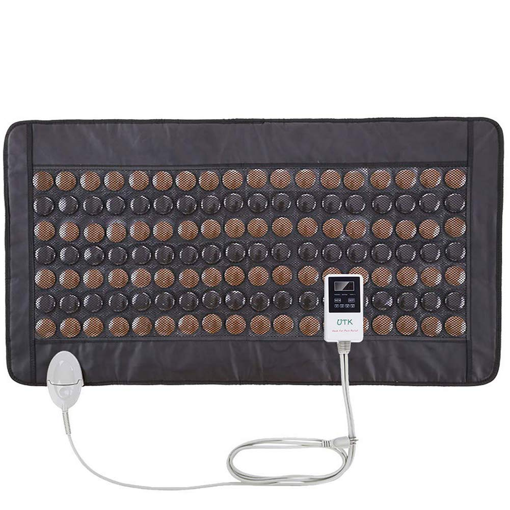 UTK Far Infrared Tourmaline Heating Pad for Full Back Pain Relief - Infrared Therapy Heating Pads - Medium T-Plus (38'' X 21''), Auto Shut Off and Travel Bag Included by UTK
