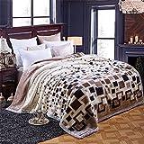 Double-Layer Thicker Winter Korallen samt Hochzeit Student Doppel Sofa Raschel Leisure Blanket,200x230cm 8