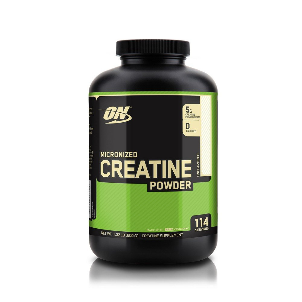 Optimum Nutrition Micronized Creatine Monohydrate Powder, Unflavored, 600g
