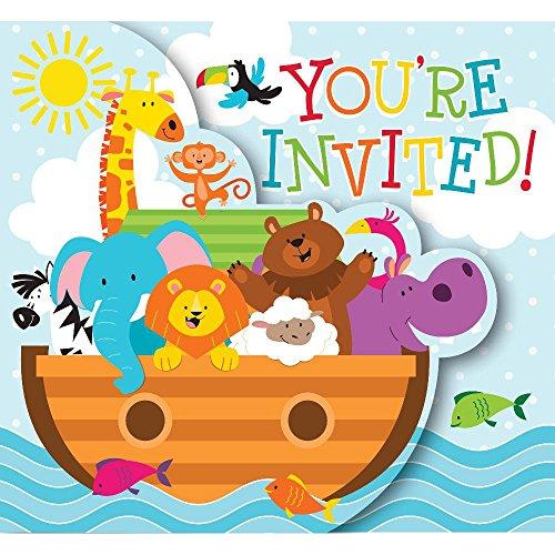 (Noah's Ark Gatefold Invitations 8 Per Pack )