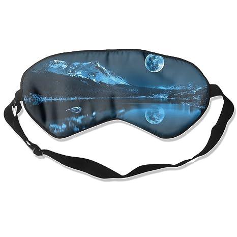 Cómodo antifaz para dormir con diseño de luna nocturna, máscara de dormir para viajar,