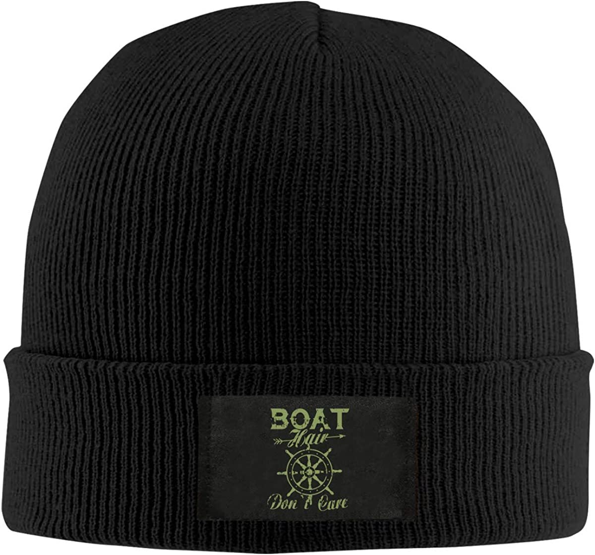 LRHUI Boat Hair Dont Care` Winter Knitted Hat Warm Wool Skull Beanie Cap