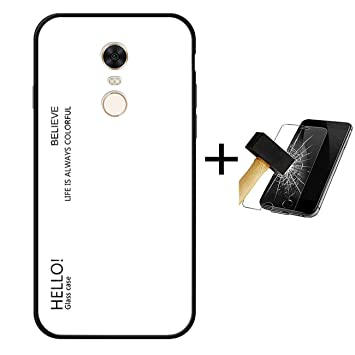 PANXIYUE Funda Xiaomi Redmi 5 Plus,Carcasas de Vidrio en Color Degradado para Xiaomi Redmi 5 Plus