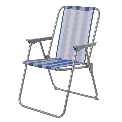 Silla Plegable para Camping clásica de Hierro Azul Garden ...