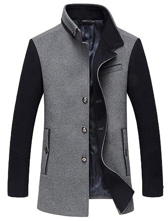 Mallimoda Homme Manteau Laine d affaires Parka Hiver Duffle-Coat Chaud   Amazon.fr  Vêtements et accessoires 35b3eb252b59