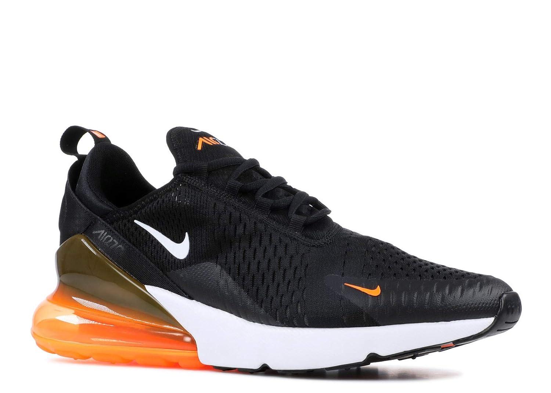 Nike Men's Air Max 270, BlackWhite Total Orange, 13 M US