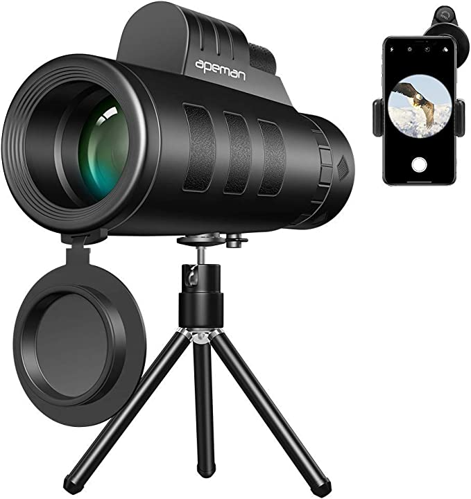 Apeman 10x50 Hd Monokular Teleskop Mit Mobilem Adapter Kamera
