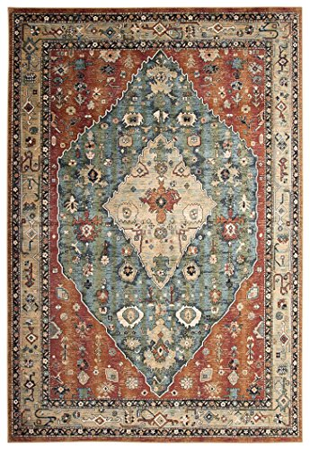 Abacasa Sonoma Jewels Aqua/Celadon/Rust/Tan Area Rug
