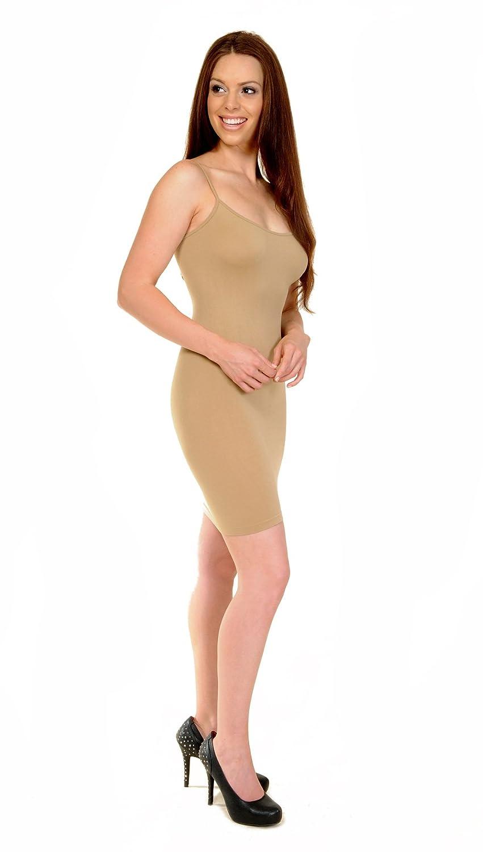 Love My Seamless Women's Juniors Fashion Dress Cami Clubwear One Size Mocha