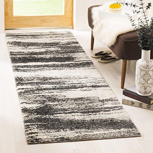 Safavieh Retro Collection RET2693-8479 Modern Abstract Dark Grey and Light Grey Runner (2'3″ x 7′)