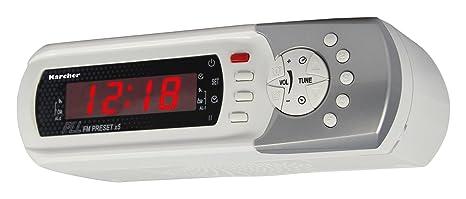 Karcher RA 2022 Küchenradio (Unterbau/Tischaufstellung, FM-PLL-Radio, Weckfunktion, Countdown-Timer) weiß