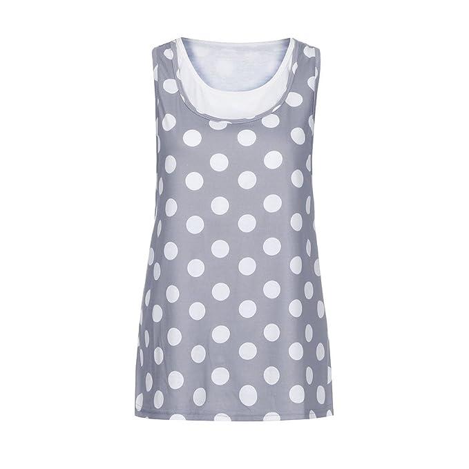 Cinnamou Blusa de Premamá Sin Mangas Ropa Corto Verano Lactancia Embarazada Tank Camisas y Camisetas de