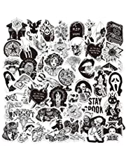 Gothic Stickers for Hydro Flask   50 PCS   Vinyl Waterproof Stickers for Laptop,Skateboard,Water Bottles,Computer,Phone,Punk Stickers, Cool Stickers Horror, Black and White Stickers(Gothic-50-5)