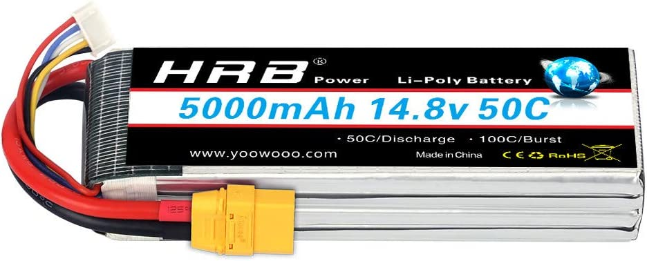 SLS XTRON Lipo Akku 5000mAh 4S1P 14,8V 40C//80C T-Plug SLSXT50004140H