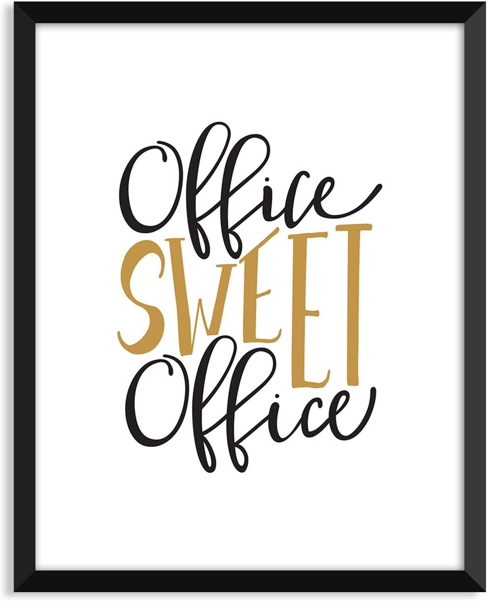 Serif Design Studios Office Sweet Office, Inspiration Quote, Funny, Adult, Minimalist Poster, Home Decor, College Dorm Room Decorations, Wall Art