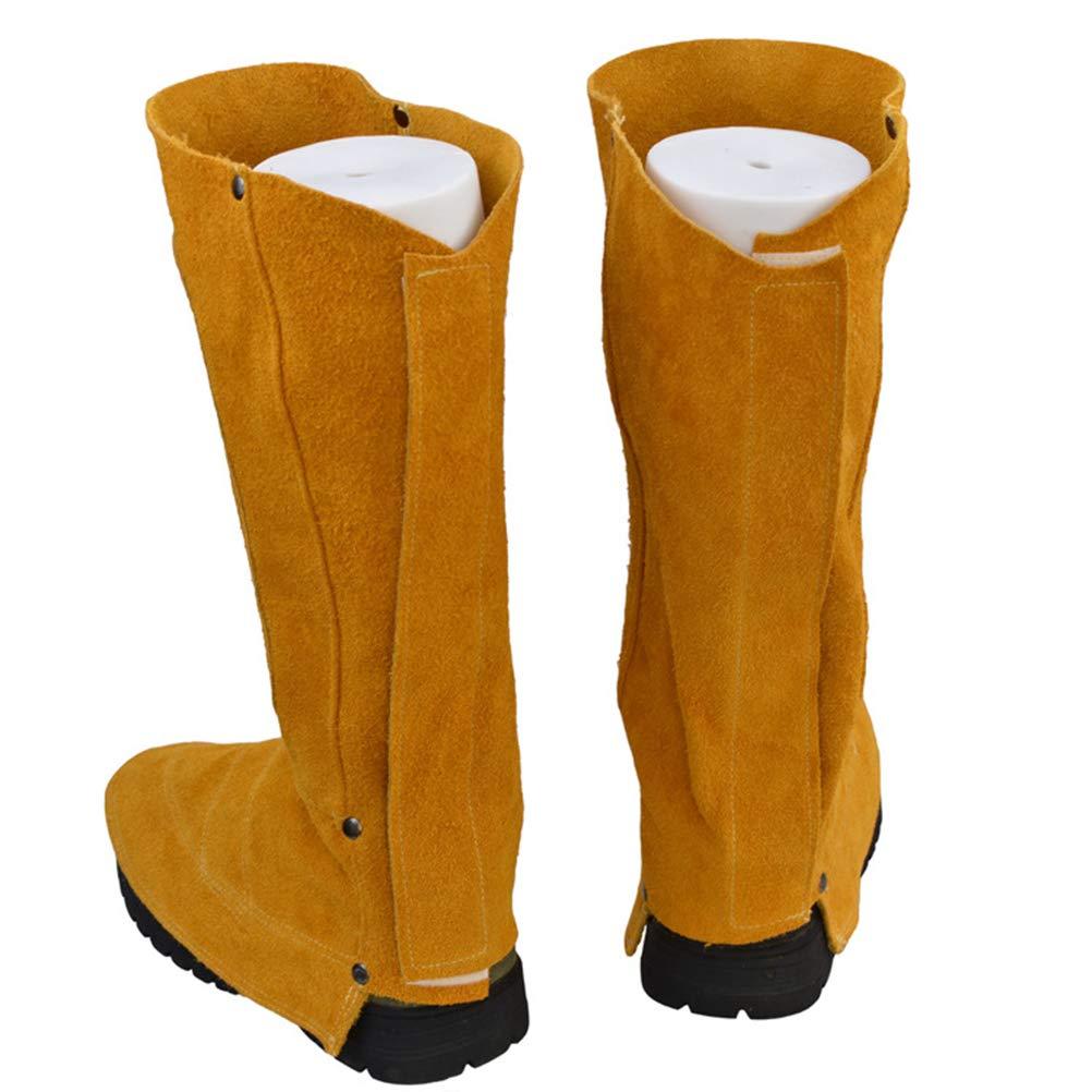 Vosarea - 1 par de Protectores para Botas de Soldadura, Resistentes al Calor y a la abrasión, Color Naranja: Amazon.es: Hogar