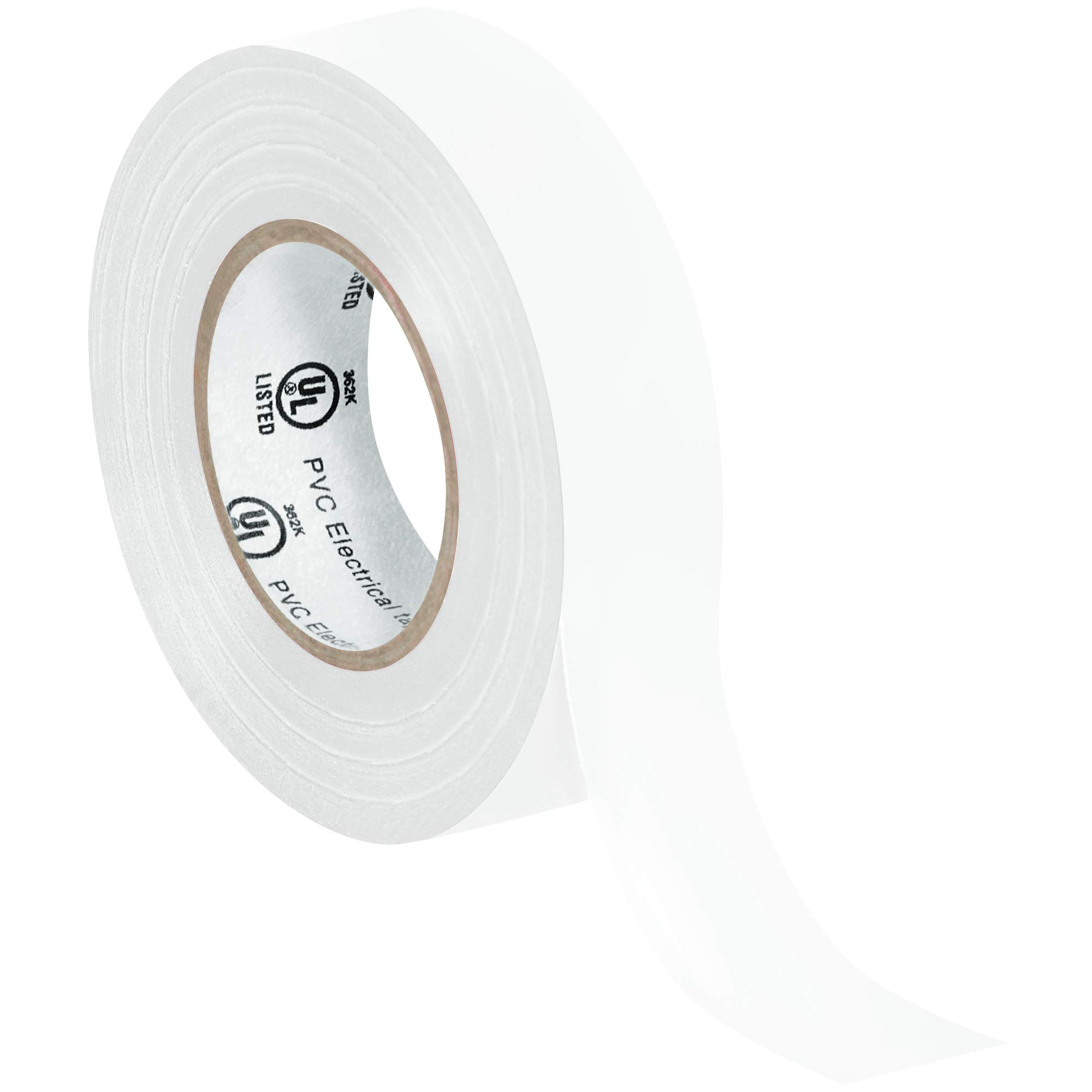 Electrical Tape, 7.0 Mil, 3/4''x 20 yds, White, 200/Case