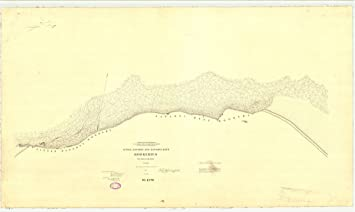 18 x 24 canvas 1897 us old nautical map drawing chart of little zapadni and zapadni