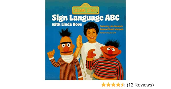 sesame street sign language abc with linda bove pictureback r sesame street tom cooke 9780394875163 amazon com books